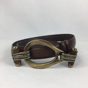 Adjustable Genuine Leather Hook Buckle Belt